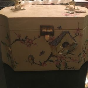 1930 decoupage box purse vintage rare